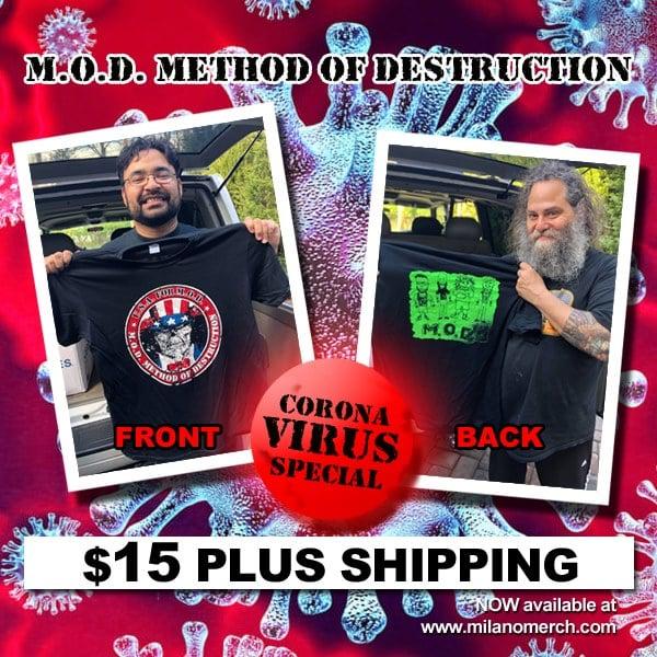 Image of U.S.A for M.O.D. T-shirt (2 sided) w/Rob Moschetti charecter design.