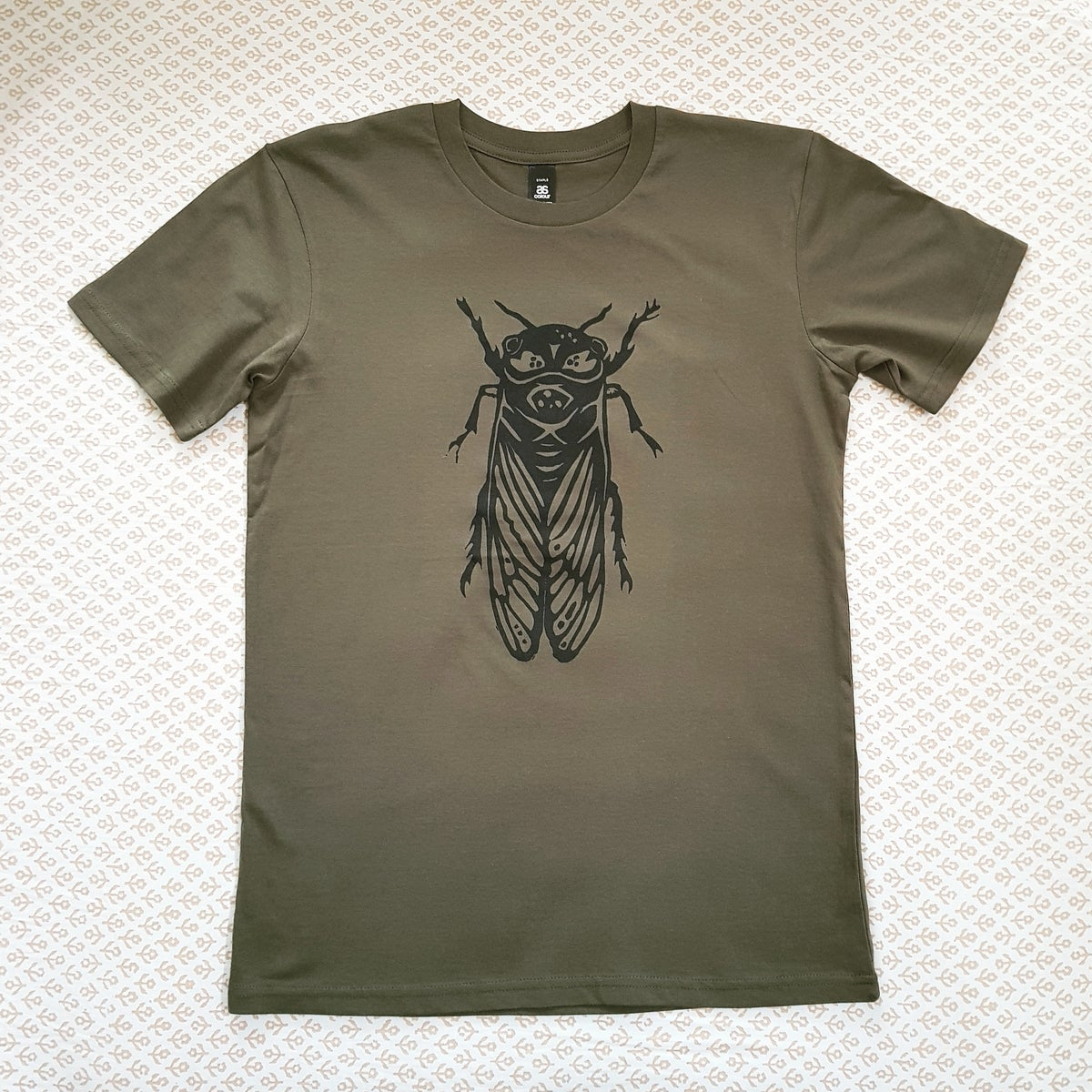 Image of Grown-Up T-Shirt - Cicada - Rust or Olive