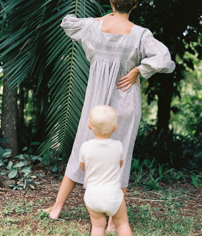 Image of Hand Smocked Full Sleeve Dress