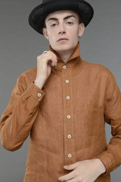 Image of English Painter Shirt Terracota £228.00