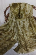 Image of Shibori dyed - Moss Green Wool/Silk Scarf