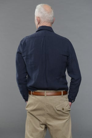 Image of Draughtsman Shirt Navy £195.00