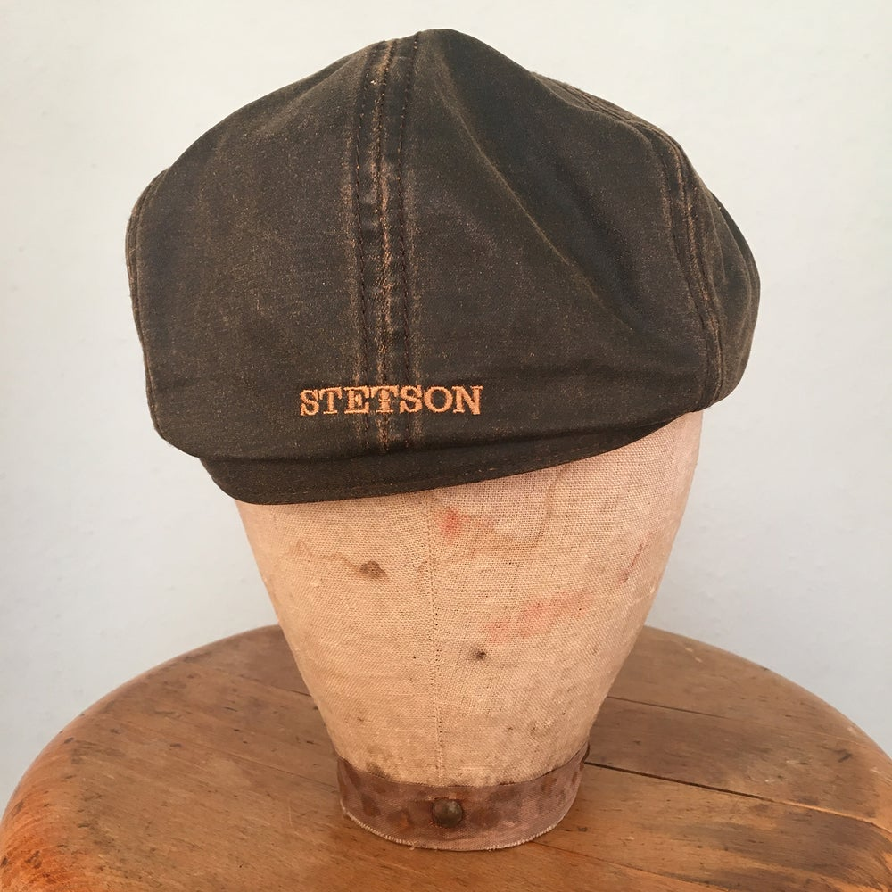 Image of STETSON HATTERAS WAXED COTTON BROWN