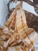 Image of Shibori dyed pastel wool/silk scarf