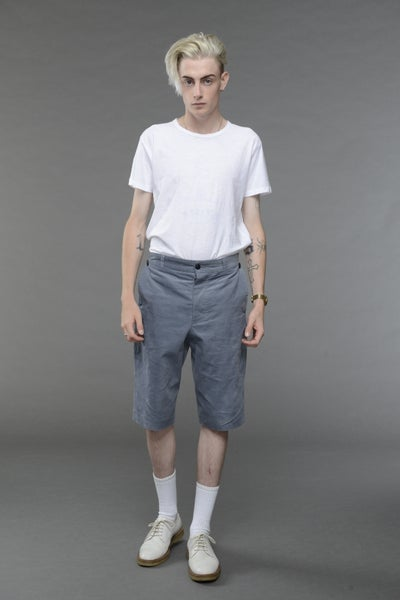 Image of California Summer Coduroy Shorts LIGHT BLUE