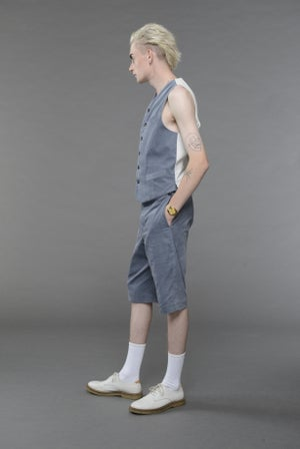 Image of California Summer Coduroy Shorts LIGHT BLUE