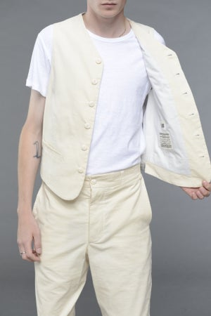 Image of California Summer Corduroy Waistcoat STONE