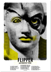 Image of Flipper - 40th Anniversary Tour Poster