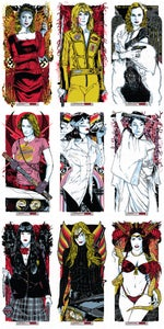 Image of QUENTIN'S ANGELS - 9 POSTER ART PRINT SET
