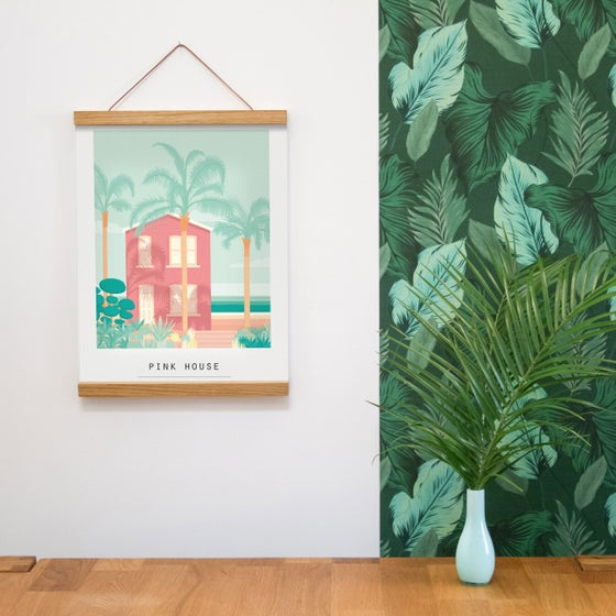 Image of ILLUSTRATION LIMITÉE - PINK HOUSE