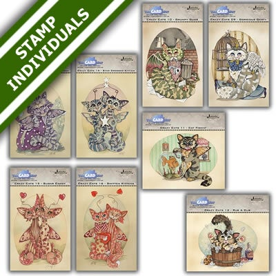 Image of Linda Ravenscroft Crazy Cats Stamp Bundle 2 - individuals