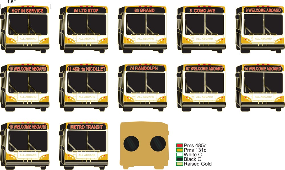 TWIN CITIES TRANSIT PINS