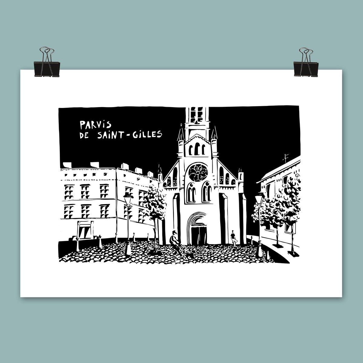 Affiche Parvis de St-Gilles