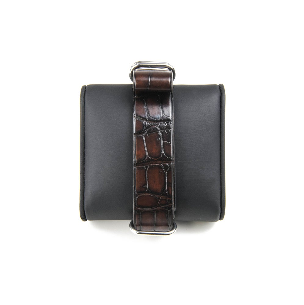 Image of Patina Brown Alligator NATO strap