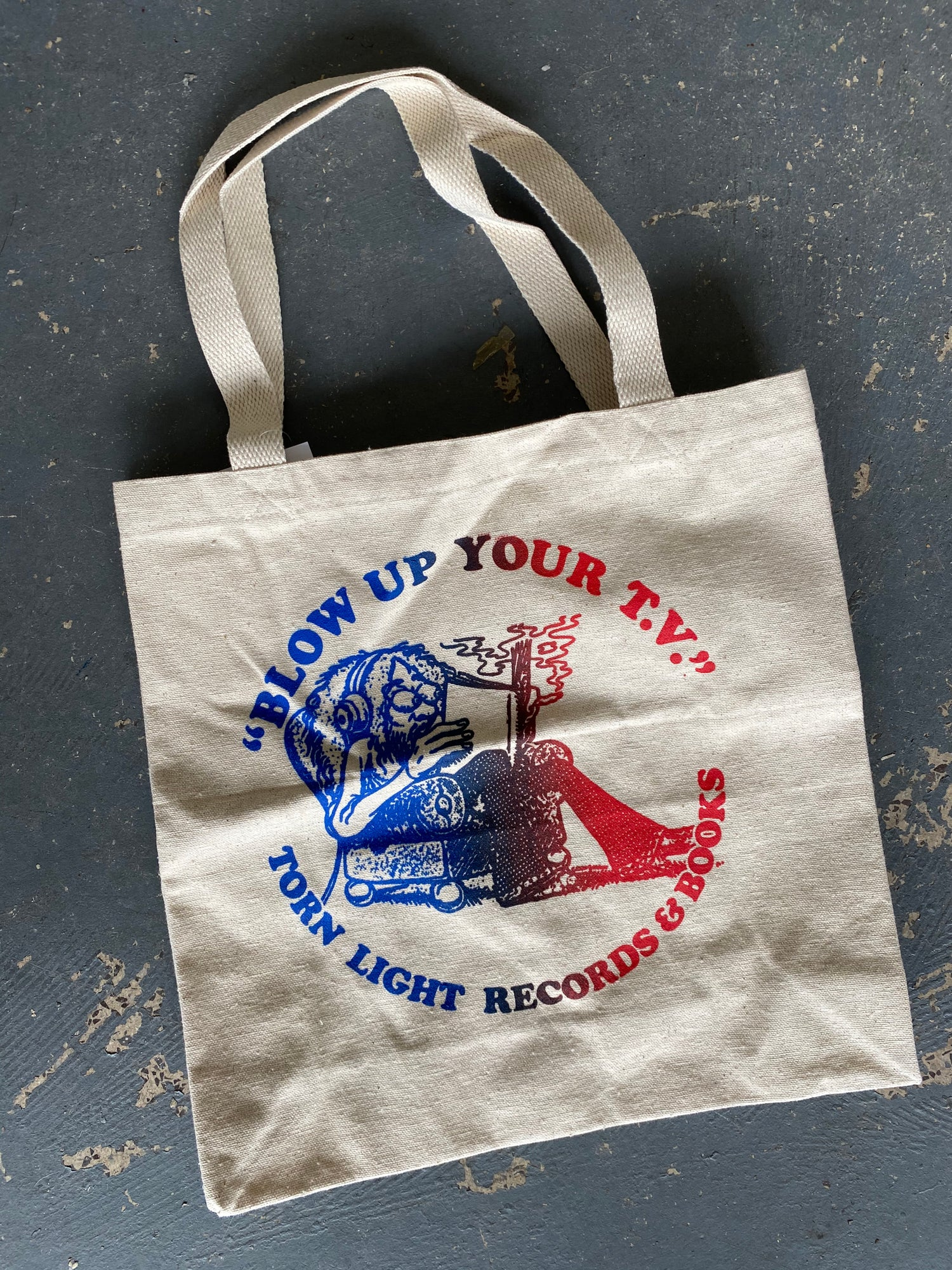 Blow Up Your T.V. Tote