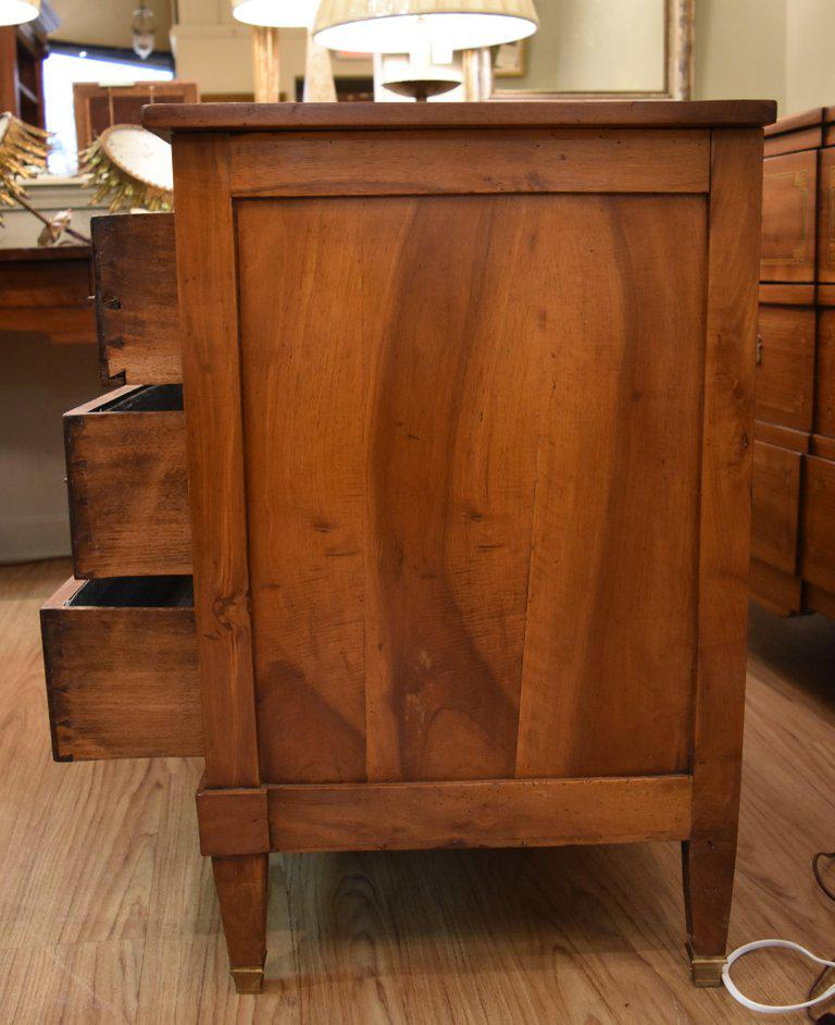 Image of 19th Century French Louis XVI Walnut Commode