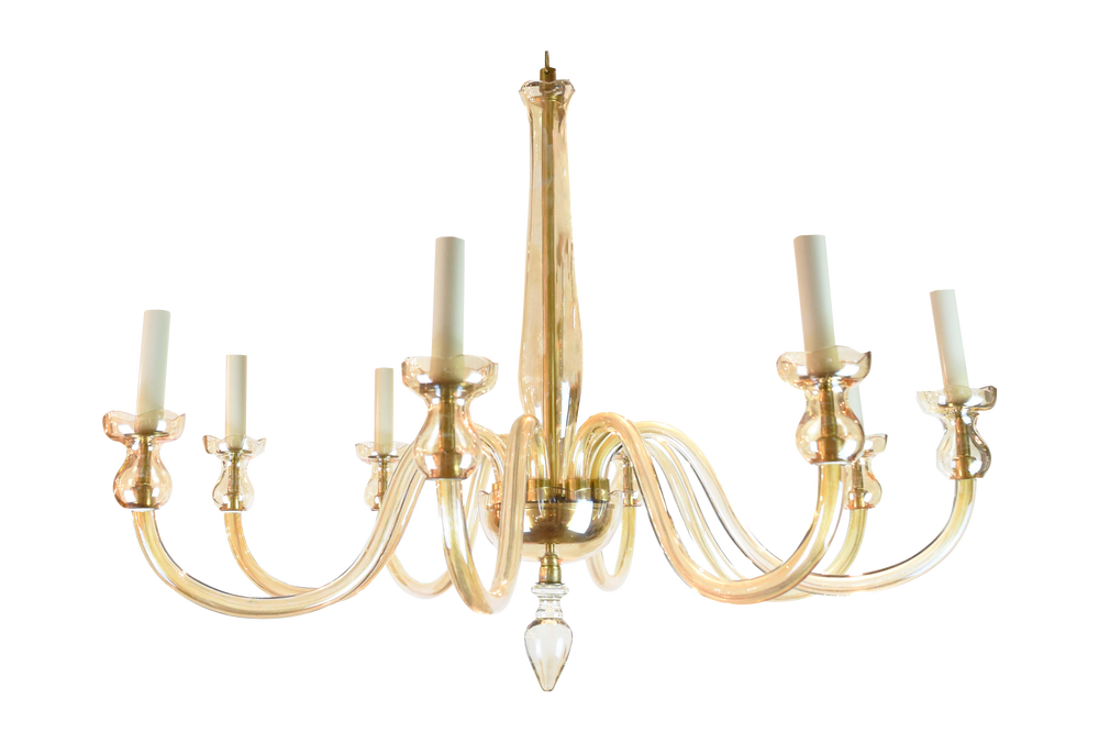 Image of Large Vintage Murano Glass Chandelier