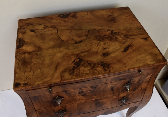 Image of Vintage Italian Walnut Side Table