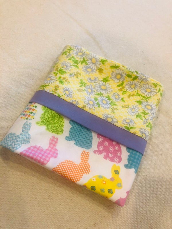 Image of Bunnies and flowers pillowcase