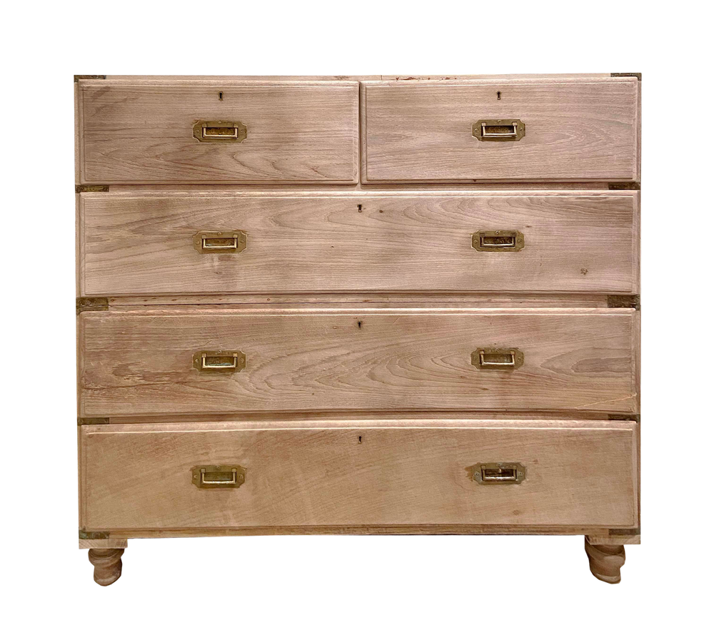 Image of Vintage Bleached English Campaign Chest