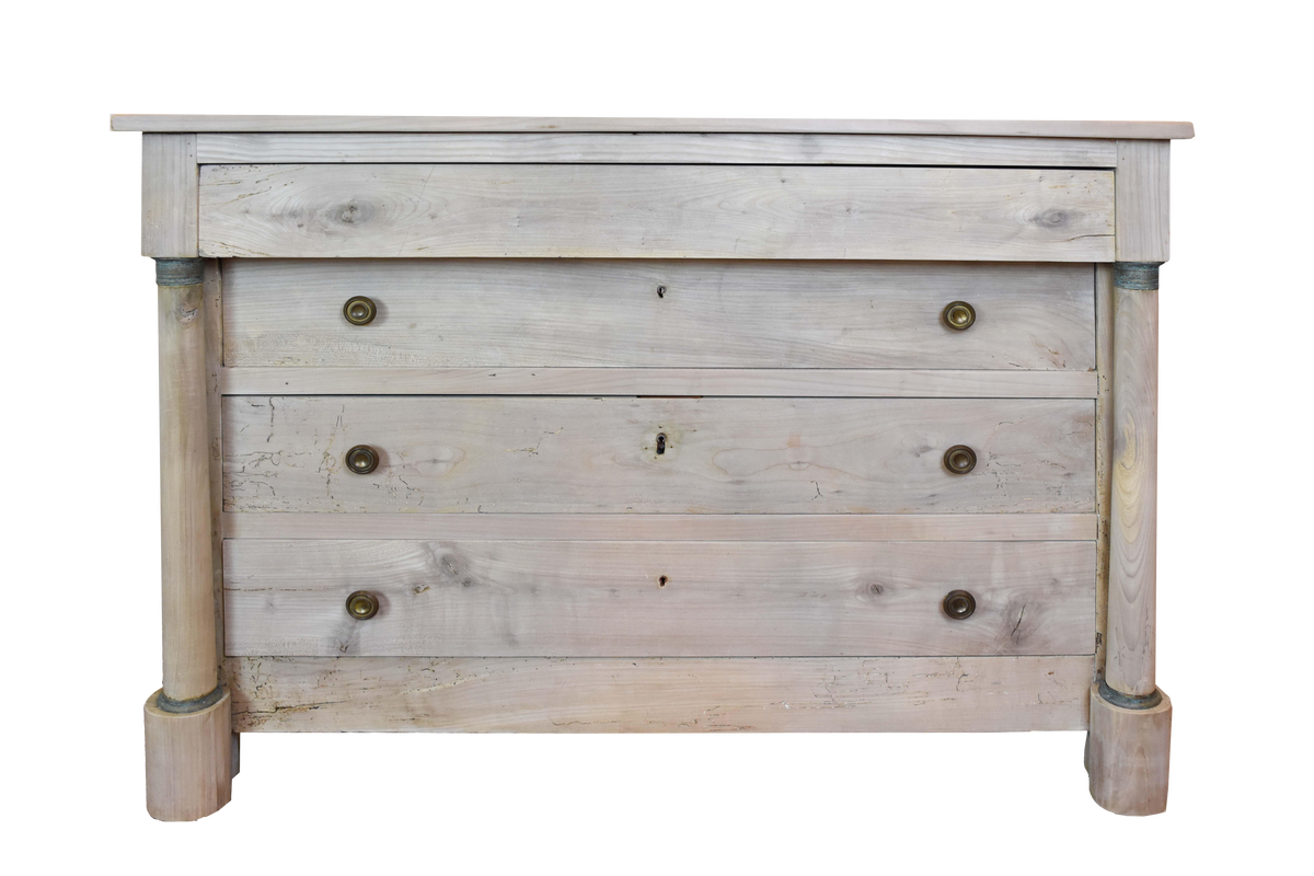 Image of 19th Century French Bleached Empire Chest