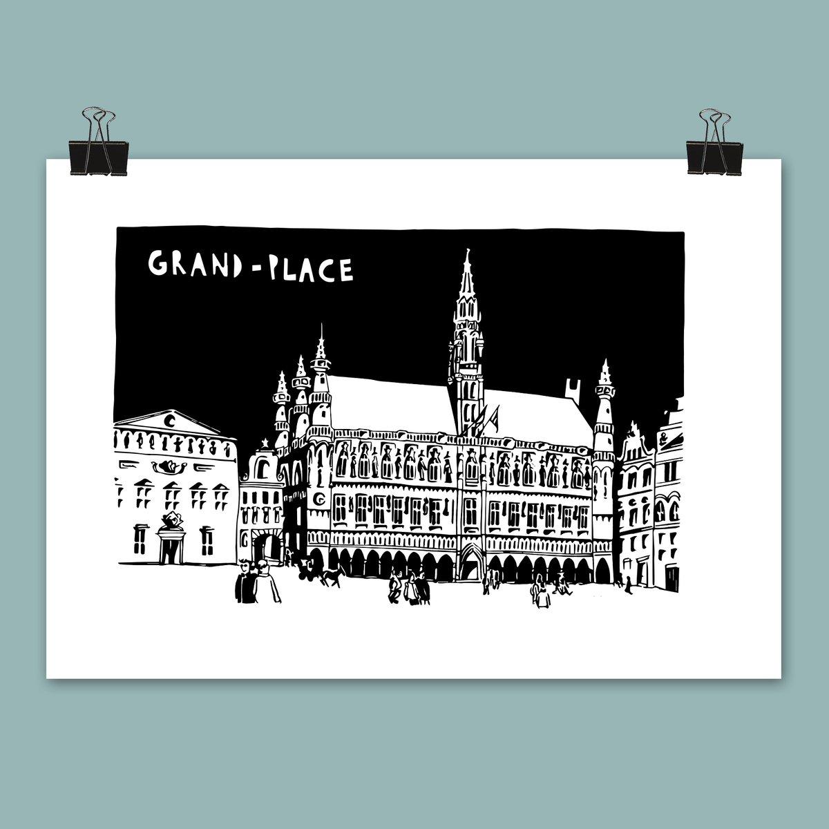 Affiche Grand-Place (2 visuels différents)