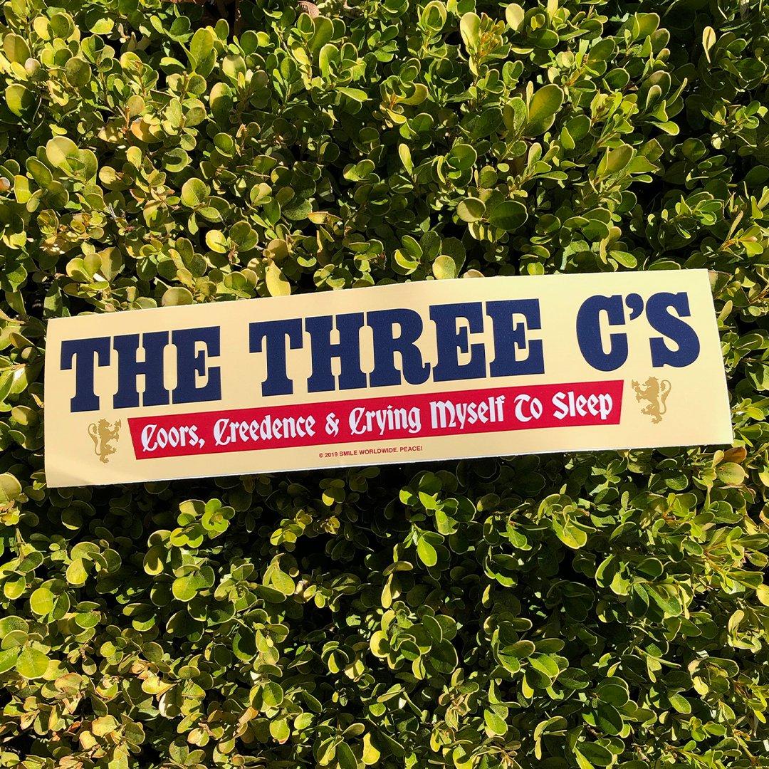 Image of The Three C's Bumper Sticker