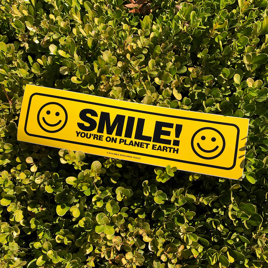Image of Smile! You're On Planet Earth Bumper Sticker