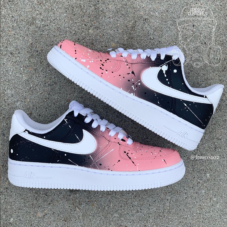 Custom AF1s - Pink/Black fade | Fresco