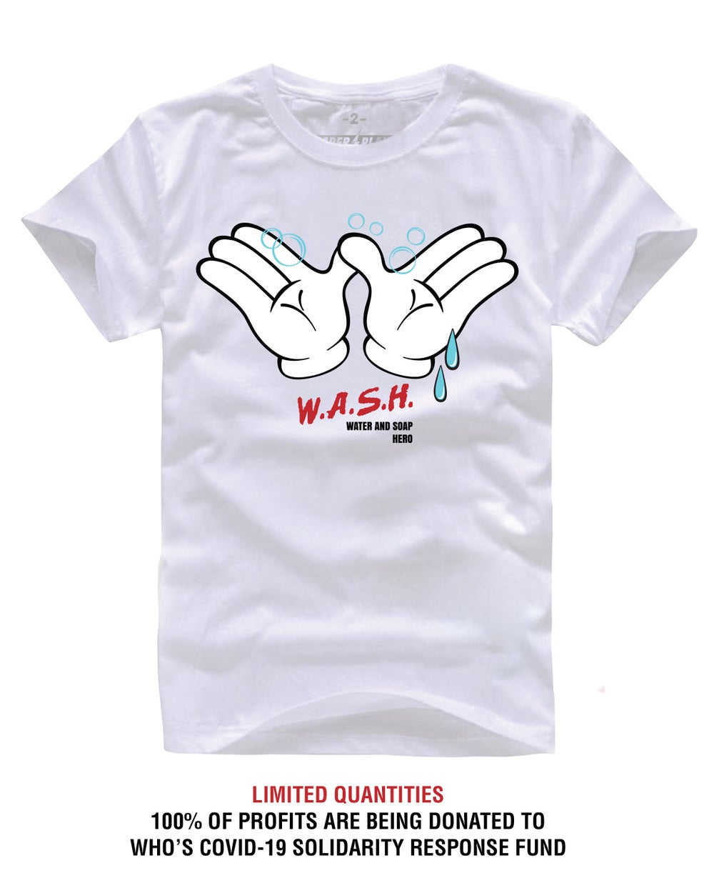 WASH SUPPORT TEE WHITE (COVID-19 SOLIDARITY RESPONSE FUND)