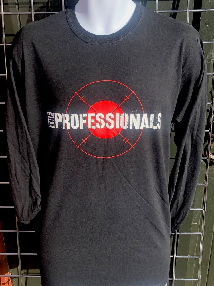 Image of The PROFESSIONALS 'Target' Design Black Long Sleeve T-Shirt