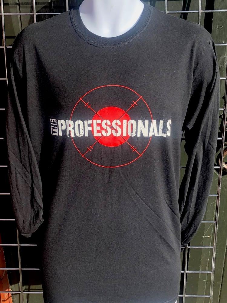 Image of The PROFESSIONALS 'Target' Design Black Long Sleeve T-Shirt