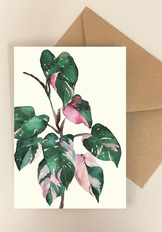 Image of 5 Notecards - Folded - Philodendron No.1014