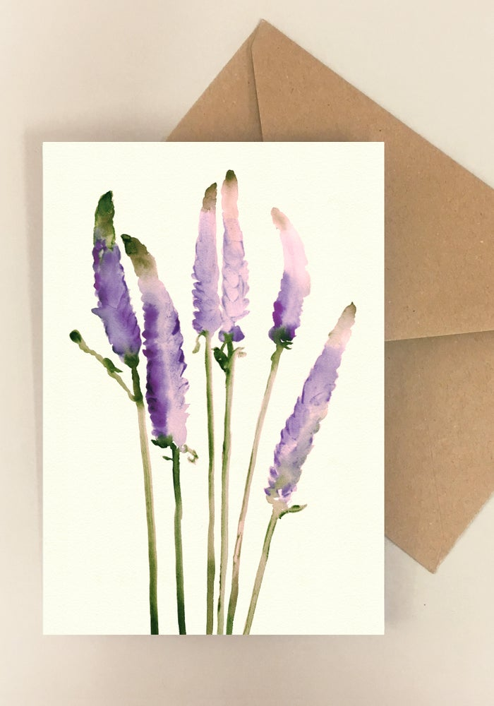 Image of 5 Notecards -Folded- Veronica No. 1012