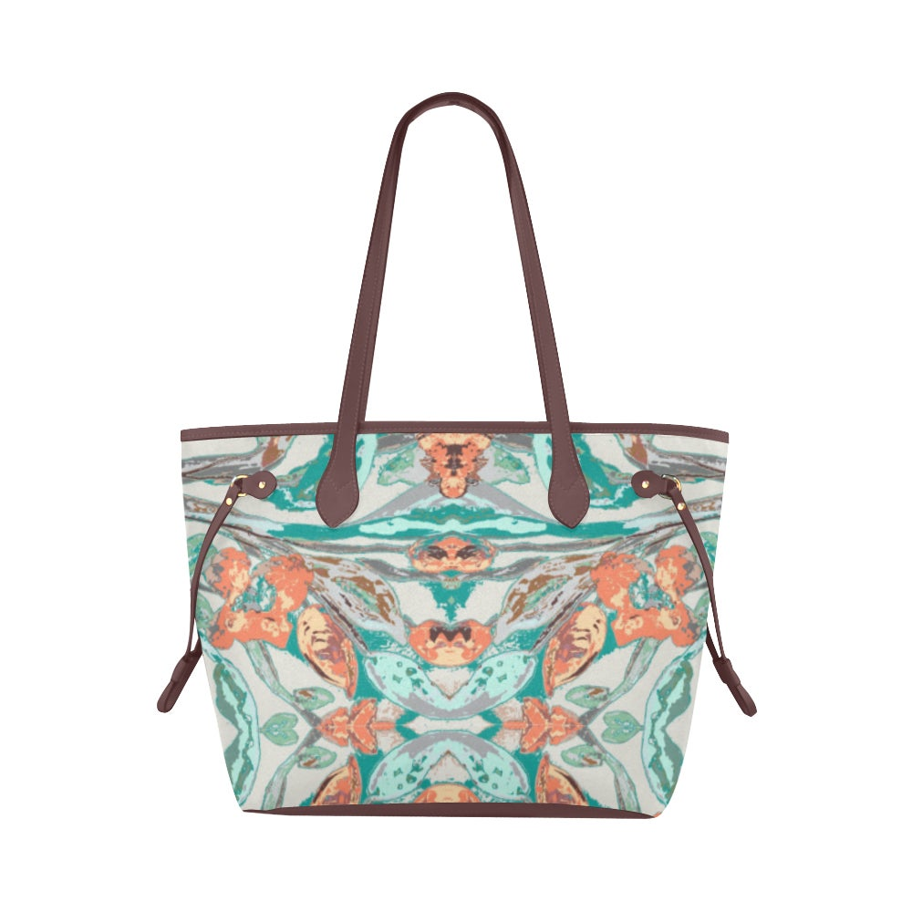 Image of Teal Iris Waterproof Tote