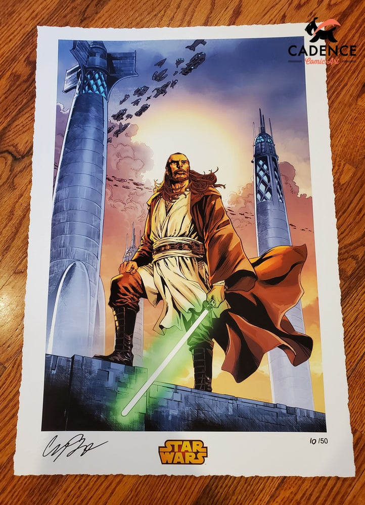 Image of Qui-Gon Jinn / Star Wars Limited Edition Giclee print by Cory Smith