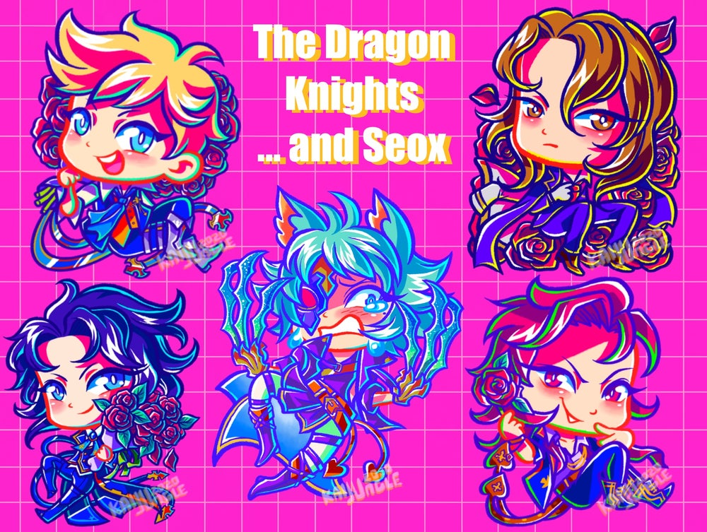Image of The dragon knights... and seox