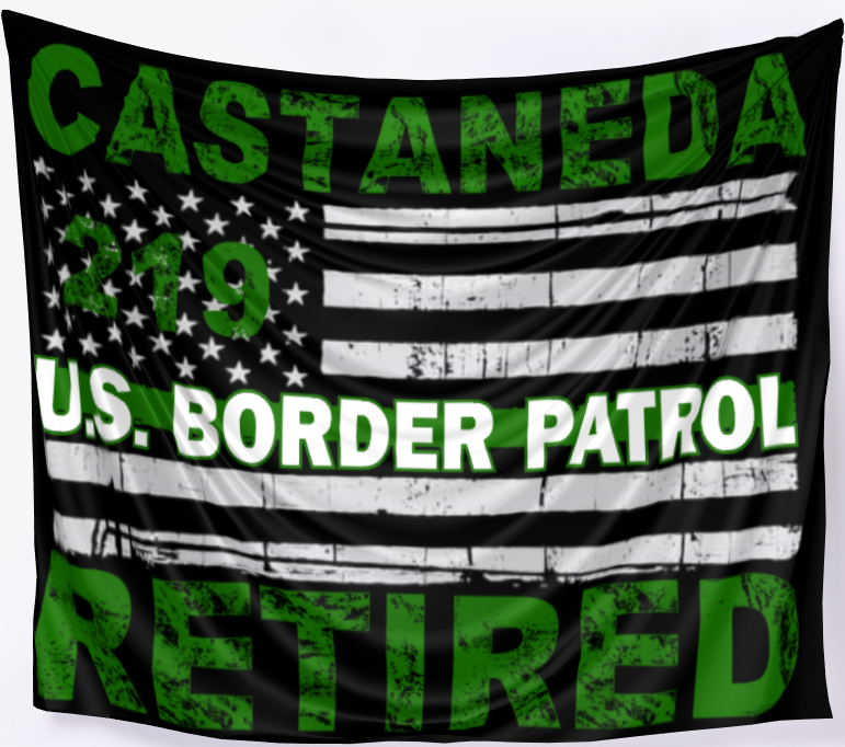 Image of USBP CLASS RETIRED BANNER ~ FULLY CUSTOMIZEABLE