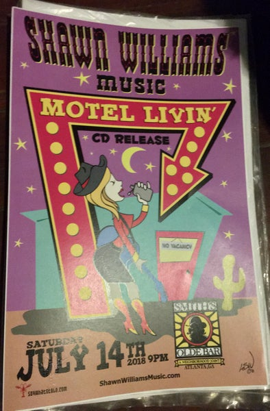 Image of Poster - Motel Livin' CD Release Show at Smith's Olde Bar
