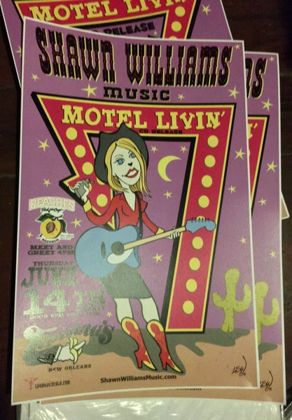Image of Poster - Motel Livin' Peaches In-store & CD Release show at Tipitina's