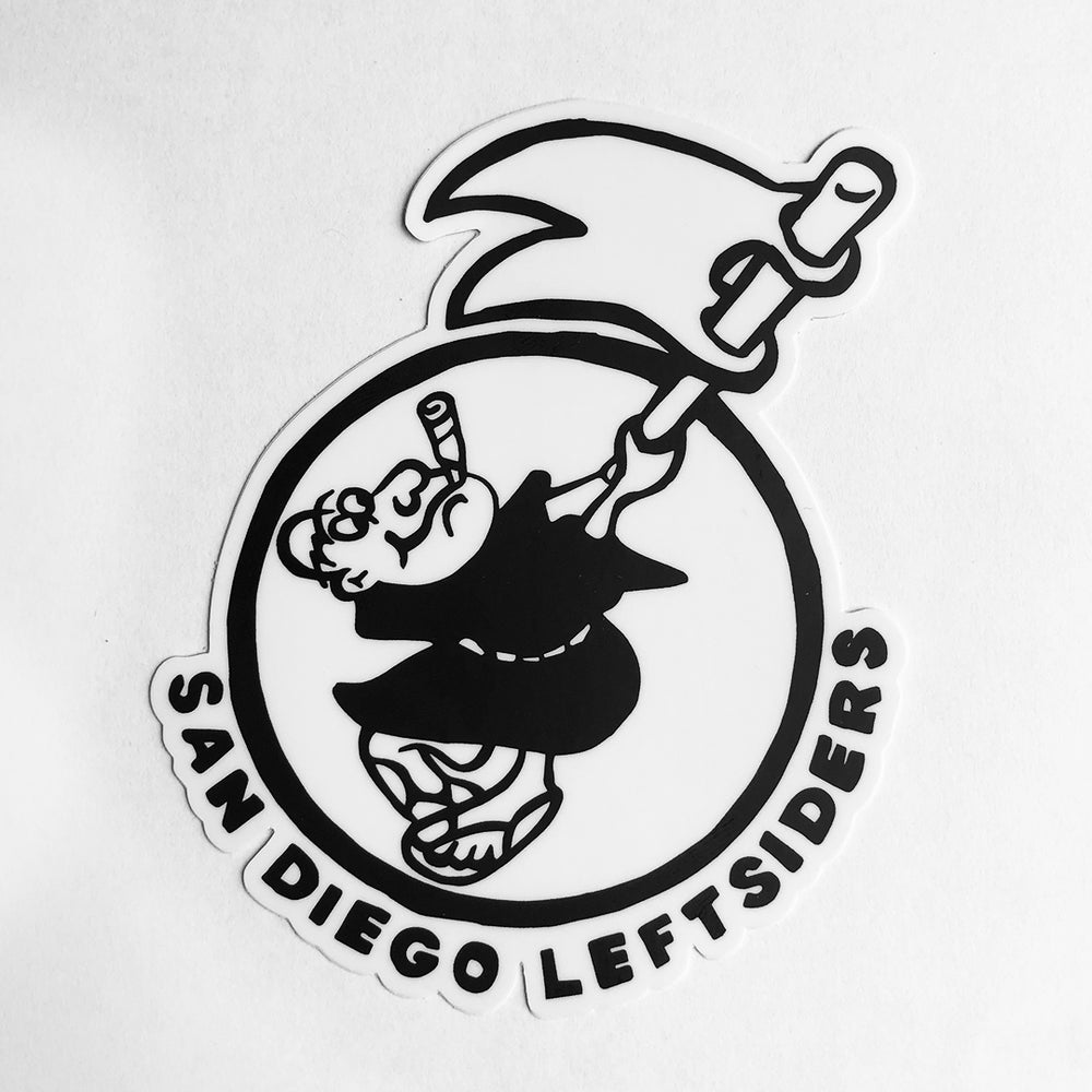 "Image of ""San Diego Leftsiders"" Sticker"