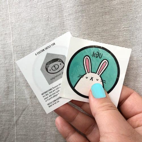 Image of UGH bunny temporary tattoos (set of 2)