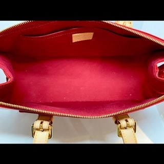 Image of Louis Vuitton Pomme D'Amour Monogram Vernis Rosewood Avenue Bag