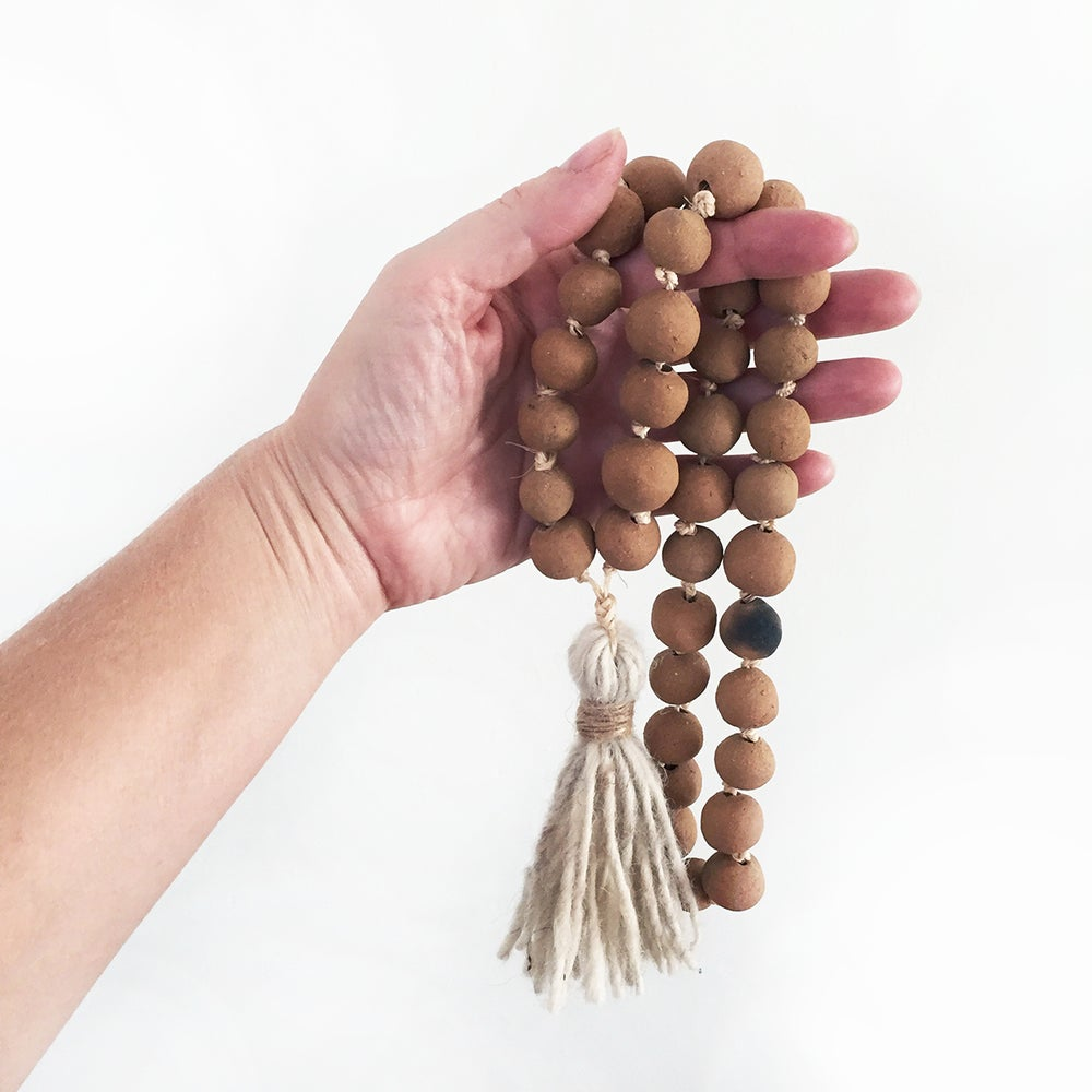 Image of Blessings Pit Fired Clay Beads