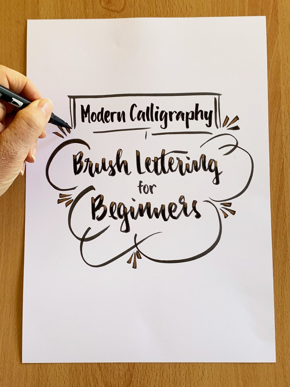 Image of Modern Calligraphy: Brush lettering with Gayle McGovern