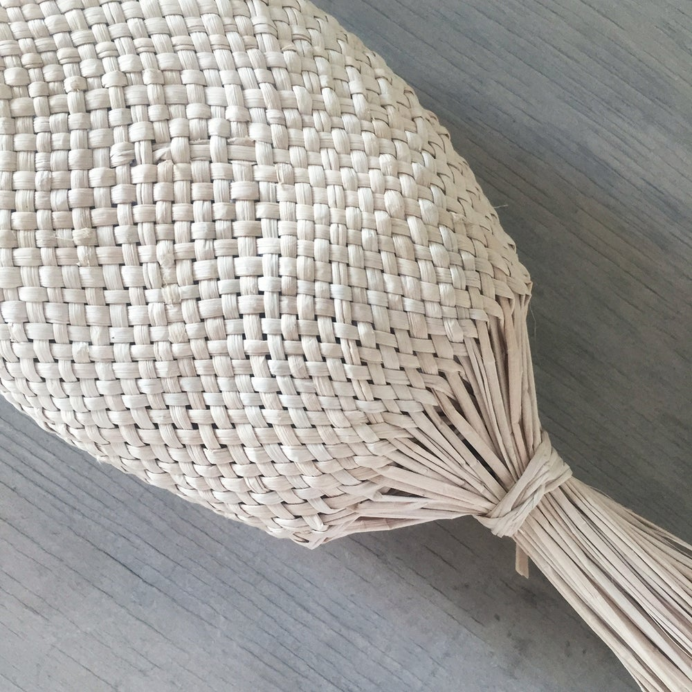Image of Pez Handmade Jipi Palm Fish Basket