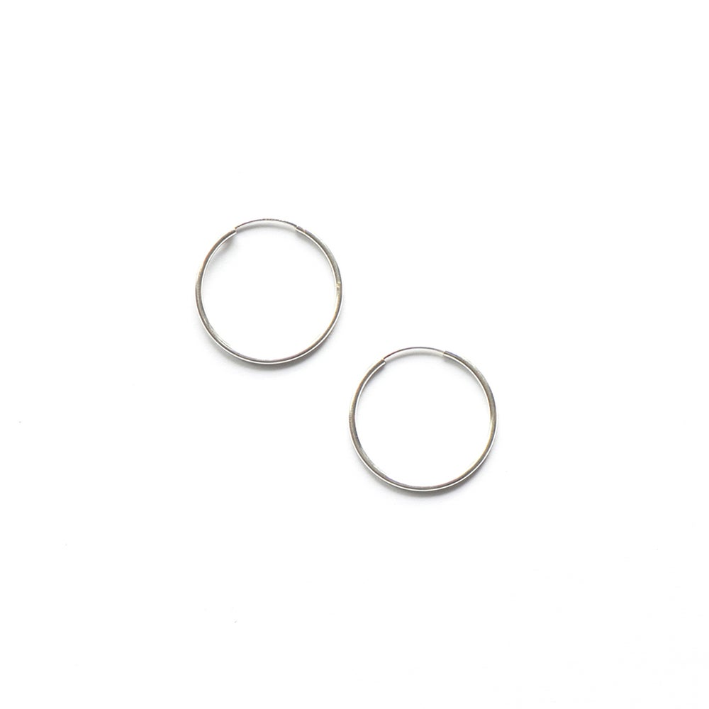 Image of extra silver hoops for BASIC hoop earrings