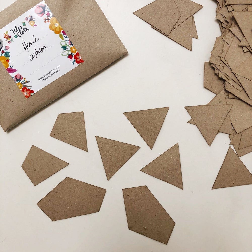 Image of Scrappy Mixed Hexie Cushion Templates Kit