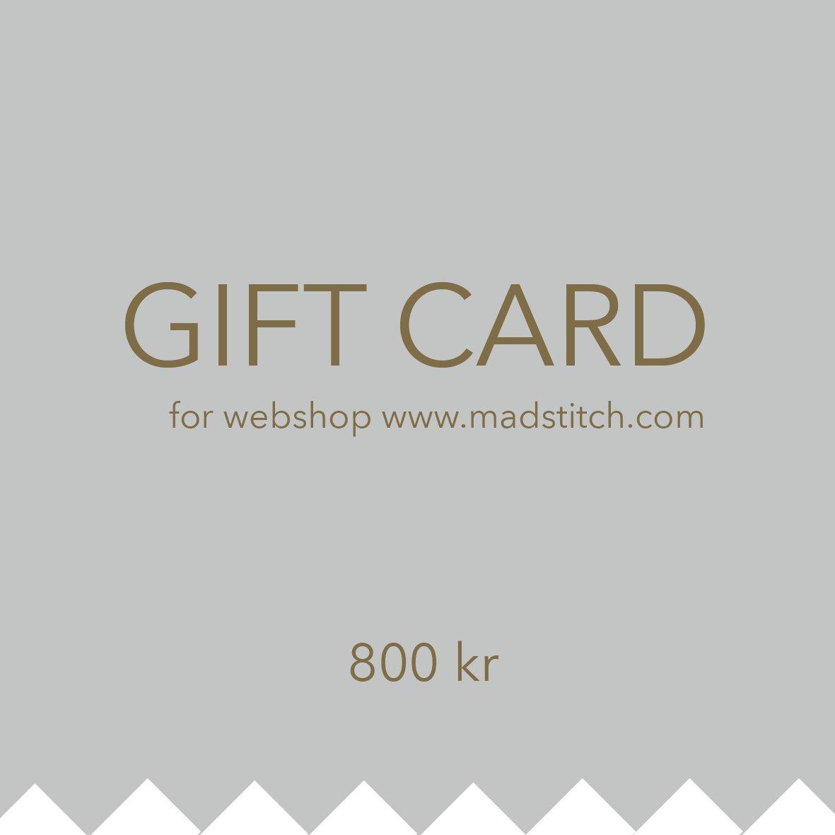 Image of Giftcard 800 DKK