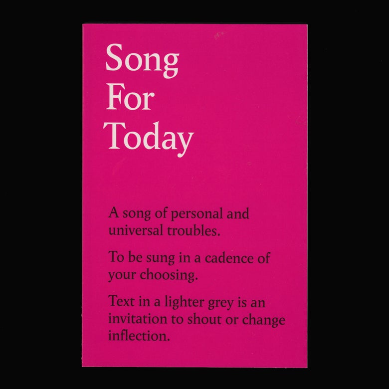 Image of Song For Today (Book)